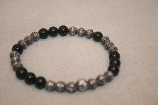 CHROM HEARTS 6MM BEAD  black Bracelet ~~~