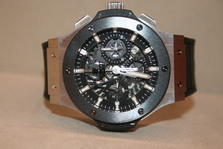 Hublot  AERO BANG steel ceramic NEW