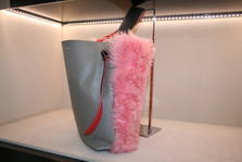 CELINE Fur Twisted Cabas Bag